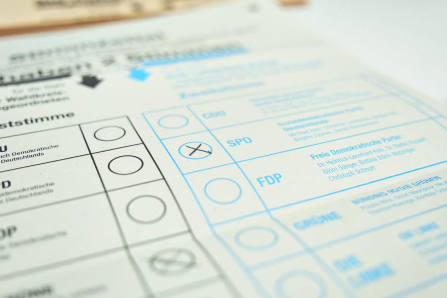 Wahlzettel Kommunalwahl 2021